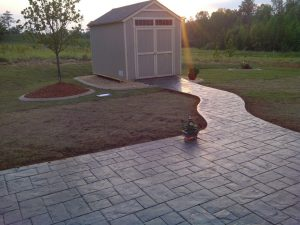Stamped Concrete Patio and Walkway - Outdoor Lifestyles, LLC 1007 N Peace Haven Rd Winston-Salem, NC 27104 ​(336) 221-3916