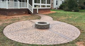 Stamped Concrete Fire Pit - Outdoor Lifestyles, LLC 1007 N Peace Haven Rd Winston-Salem, NC 27104 (336) 221-3916