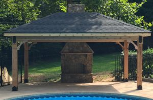 pool deck builders near me, deck with gazebo